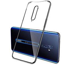 Custodia Silicone Trasparente Ultra Sottile Cover Morbida H04 per Oppo Reno2 Nero
