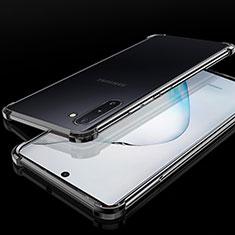 Custodia Silicone Trasparente Ultra Sottile Cover Morbida H04 per Samsung Galaxy Note 10 Plus Nero