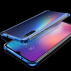 Custodia Silicone Trasparente Ultra Sottile Cover Morbida H04 per Xiaomi Mi 9 Pro Blu