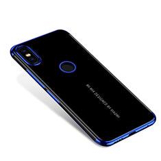 Custodia Silicone Trasparente Ultra Sottile Cover Morbida H04 per Xiaomi Mi Mix 2S Blu