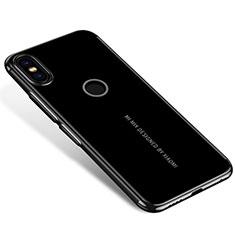 Custodia Silicone Trasparente Ultra Sottile Cover Morbida H04 per Xiaomi Mi Mix 2S Nero