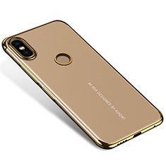 Custodia Silicone Trasparente Ultra Sottile Cover Morbida H04 per Xiaomi Mi Mix 2S Oro