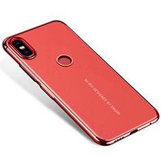 Custodia Silicone Trasparente Ultra Sottile Cover Morbida H04 per Xiaomi Mi Mix 2S Rosso