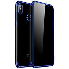 Custodia Silicone Trasparente Ultra Sottile Cover Morbida H04 per Xiaomi Redmi Note 5 Pro Blu