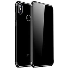 Custodia Silicone Trasparente Ultra Sottile Cover Morbida H04 per Xiaomi Redmi Note 5 Pro Nero