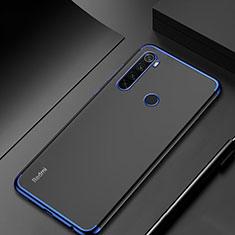 Custodia Silicone Trasparente Ultra Sottile Cover Morbida H04 per Xiaomi Redmi Note 8 Blu