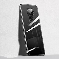 Custodia Silicone Trasparente Ultra Sottile Cover Morbida H05 per Huawei Mate 30 Lite Nero