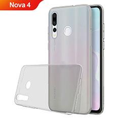 Custodia Silicone Trasparente Ultra Sottile Cover Morbida H05 per Huawei Nova 4 Grigio