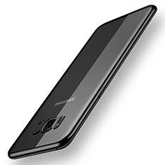Custodia Silicone Trasparente Ultra Sottile Cover Morbida H05 per Samsung Galaxy S8 Nero
