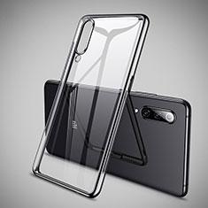 Custodia Silicone Trasparente Ultra Sottile Cover Morbida H05 per Xiaomi Mi 9 Nero