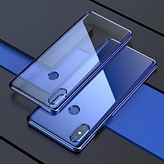 Custodia Silicone Trasparente Ultra Sottile Cover Morbida H05 per Xiaomi Mi Mix 3 Blu