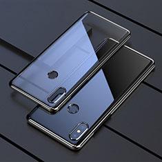 Custodia Silicone Trasparente Ultra Sottile Cover Morbida H05 per Xiaomi Mi Mix 3 Nero