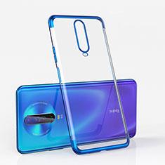 Custodia Silicone Trasparente Ultra Sottile Cover Morbida H05 per Xiaomi Poco X2 Blu