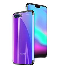 Custodia Silicone Trasparente Ultra Sottile Cover Morbida H06 per Huawei Honor 10 Nero