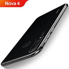 Custodia Silicone Trasparente Ultra Sottile Cover Morbida H06 per Huawei Nova 4 Nero