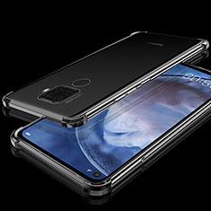 Custodia Silicone Trasparente Ultra Sottile Cover Morbida H07 per Huawei Mate 30 Lite Nero