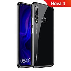 Custodia Silicone Trasparente Ultra Sottile Cover Morbida H07 per Huawei Nova 4 Nero