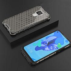 Custodia Silicone Trasparente Ultra Sottile Cover Morbida H08 per Huawei Mate 30 Lite Nero