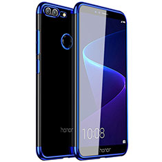 Custodia Silicone Trasparente Ultra Sottile Cover Morbida H16 per Huawei Honor 9 Lite Blu