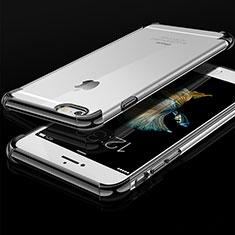 Custodia Silicone Trasparente Ultra Sottile Cover Morbida HC01 per Apple iPhone 6S Nero