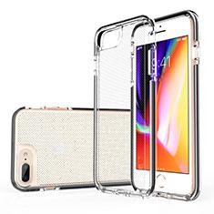 Custodia Silicone Trasparente Ultra Sottile Cover Morbida HT01 per Apple iPhone 8 Plus Nero