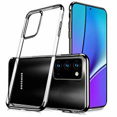 Custodia Silicone Trasparente Ultra Sottile Cover Morbida N02 per Samsung Galaxy Note 20 5G Nero