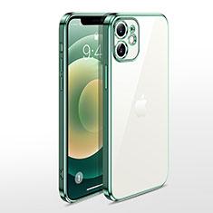 Custodia Silicone Trasparente Ultra Sottile Cover Morbida N04 per Apple iPhone 12 Mini Verde