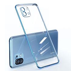 Custodia Silicone Trasparente Ultra Sottile Cover Morbida per Xiaomi Mi 11 5G Blu