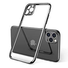 Custodia Silicone Trasparente Ultra Sottile Cover Morbida S01 per Apple iPhone 11 Pro Nero