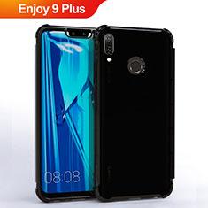 Custodia Silicone Trasparente Ultra Sottile Cover Morbida S01 per Huawei Enjoy 9 Plus Nero