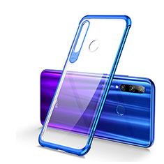 Custodia Silicone Trasparente Ultra Sottile Cover Morbida S01 per Huawei Honor 20 Lite Blu