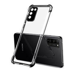 Custodia Silicone Trasparente Ultra Sottile Cover Morbida S01 per Huawei Honor 30 Lite 5G Nero