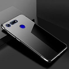 Custodia Silicone Trasparente Ultra Sottile Cover Morbida S01 per Huawei Honor V20 Nero
