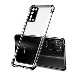 Custodia Silicone Trasparente Ultra Sottile Cover Morbida S01 per Huawei Honor X10 5G Nero