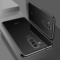 Custodia Silicone Trasparente Ultra Sottile Cover Morbida S01 per Huawei Mate 20 Lite Nero