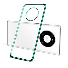 Custodia Silicone Trasparente Ultra Sottile Cover Morbida S01 per Huawei Mate 40 Pro Verde