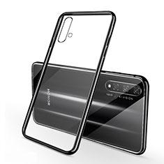 Custodia Silicone Trasparente Ultra Sottile Cover Morbida S01 per Huawei Nova 5T Nero