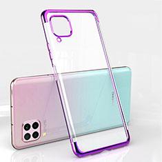 Custodia Silicone Trasparente Ultra Sottile Cover Morbida S01 per Huawei P40 Lite Viola