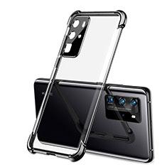 Custodia Silicone Trasparente Ultra Sottile Cover Morbida S01 per Huawei P40 Pro Nero