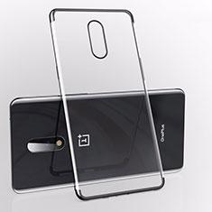 Custodia Silicone Trasparente Ultra Sottile Cover Morbida S01 per OnePlus 7 Nero