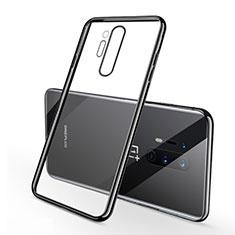Custodia Silicone Trasparente Ultra Sottile Cover Morbida S01 per OnePlus 8 Pro Nero