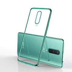 Custodia Silicone Trasparente Ultra Sottile Cover Morbida S01 per OnePlus 8 Verde