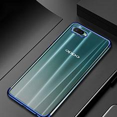 Custodia Silicone Trasparente Ultra Sottile Cover Morbida S01 per Oppo R17 Neo Blu