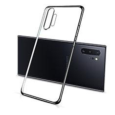Custodia Silicone Trasparente Ultra Sottile Cover Morbida S01 per Samsung Galaxy Note 10 Plus 5G Nero