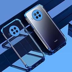 Custodia Silicone Trasparente Ultra Sottile Cover Morbida S01 per Xiaomi Mi 10T Lite 5G Blu