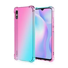 Custodia Silicone Trasparente Ultra Sottile Cover Morbida S01 per Xiaomi Redmi 9i Rosa
