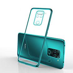 Custodia Silicone Trasparente Ultra Sottile Cover Morbida S01 per Xiaomi Redmi Note 9 Verde