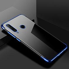 Custodia Silicone Trasparente Ultra Sottile Cover Morbida S02 per Huawei Honor 20 Lite Blu