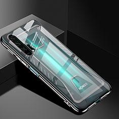 Custodia Silicone Trasparente Ultra Sottile Cover Morbida S02 per Huawei Honor 20 Pro Nero