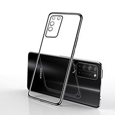 Custodia Silicone Trasparente Ultra Sottile Cover Morbida S02 per Huawei Honor X10 5G Nero